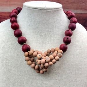Knotted Cranberry & Creme Acai Necklace